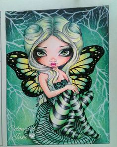 Jasmine Becket-Griffith book   #adultcolouringbook #jasminebecketgriffith #strangeling #colourpencil #lightening