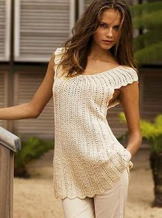 lovely free crochet pattern for summer tunic dress