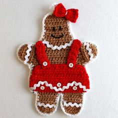 Picture of Gingerbread Kitchen Set Crochet Pattern