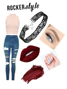 """""""Untitled #42"""" by fashionfever147 ❤ liked on Polyvore featuring Topshop, WearAll, Lime Crime, Urban Decay, rockerchic and rockerstyle"""