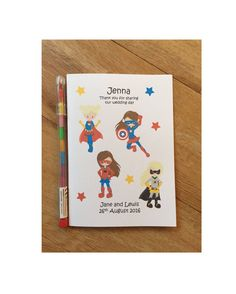 A6 Personalised Childrens Girls Superhero by DesignsbyDaisyandMax