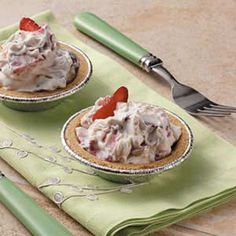 """Strawberries 'n' Cream Tarts Recipe -These pretty tartlets are a yummy treat when fresh berries are in season. I always receive rave reviews whenever I make them, """" enthuses Karen Tysdal of Duluth, Minnesota."""