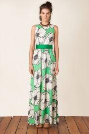 vestido longo floral paula