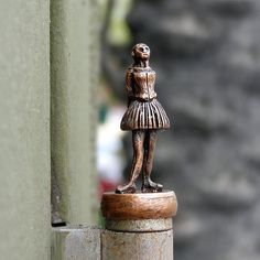 Antique Bronze Ballerina Miniature Sculpture. #Art #HandMade.