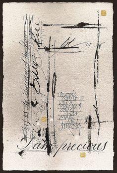 I am precious ~ calligraphy