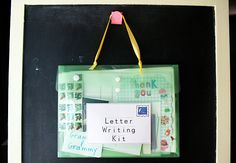 Letter Writing Kit...keep available so kiddos can write letters and receive more mail themselves!