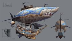 About steampunk art Steampunk Ship, Steampunk Kunst, Steampunk Cosplay, Fantasy World, Fantasy Art, Chihiro Y Haku, Flying Ship, Drive In, Cyberpunk Girl