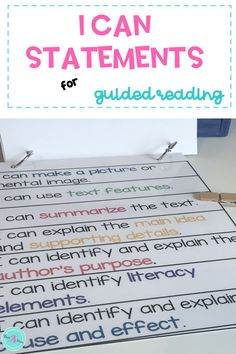 "Set achievable goals every lesson with these ""I can"" statements for reading. Written in student-friendly language to help students track their own growth for each learning target. Ideal for setting lesson objectives for your guided reading groups while breaking large standards into targeted chunks of instruction. #GuidedReading #ICanStatements #TeachersPayTeachers"
