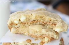 Biscoff Stuffed White Chocolate Chip Cookies - Picky Palate