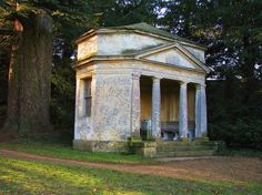 Temple of Echo, designed by William Kent in the 18th century Rousham House, Park and Garden, Oxfordshire, England