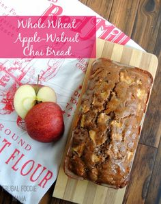 Whole Wheat Apple-Walnut Chai Bread via thefrugalfoodiemama.com #BRMHolidays #CleverGirls