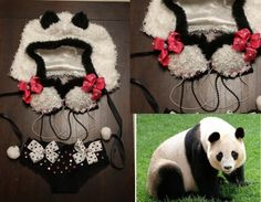 Panda outfit #rave #raver #gogo