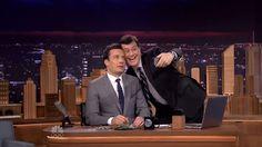 Tonight Show starring Jimmy Fallon vs Colbert Report:  The Tonight Show starring Jimmy Fallon premiere was one giant thank you note to fans but Stephen Colbert is rooting for Fallon to fail.  #jimmyfallon #TonightShow #colbertreport #stephen colbert #selfie #robertdeniro #kimkardashian #joanrivers #rudyguiliani #MariahCarey #traceymorgan #tinafey #lindsaylohan #SethRogen #ladygaga #sarahjessicaparker #miketyson…