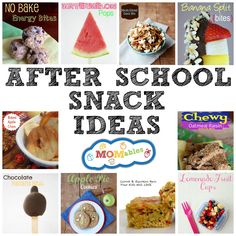Awesome snacks for after school! Everything from no-bake bites, fresh fruit, to healthy baked treats!