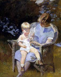 Edmund Charles Tarbell Margery And Little Edmund
