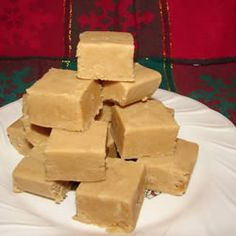 "Peanut Butter Fudge  ""An easy recipe for peanut butter fudge. This uses real peanut butter, not peanut butter chips."" - Teresa"