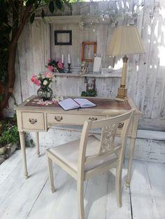 beautiful vintage writting desk