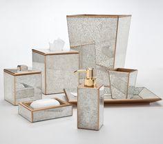 Mirrored Bathroom Set