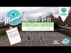 """This video is looking at """"The Six Point Drill"""" for netball. This is a great team drill to develop through court flow and whole team connections. Netball Coach, Passing Drills, Team Pictures, Rugby League, Wagon Wheel, Great Team, Animal Quotes, Wedding Humor"""