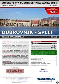 DUBROVNIK - Split / 5 días ¡¡Superoferta Puente Semana Santa: 17 abril!! sal. Bilbao ultimo minuto - http://zocotours.com/dubrovnik-split-5-dias-superoferta-puente-semana-santa-17-abril-sal-bilbao-ultimo-minuto/