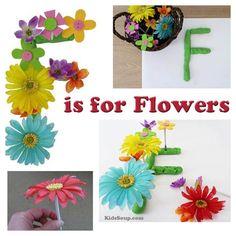 F Is for Flower - Flower Fine Motor Skills Activity