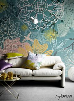 Beautiful Floral Background Wall Mural