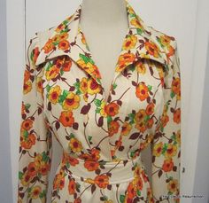 Vintage 1970s Empire Waist Dress  Flower Power by linbot1 on Etsy, $30.00