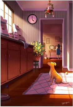 Yaoyao Ma Van As celebrates the bond between a dog and their owner with her series of heartwarming illustrations.