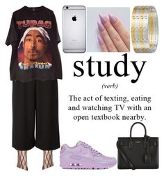 """study"" by blvck-fashion ❤ liked on Polyvore featuring Proenza Schouler, NIKE, Yves Saint Laurent and Giallo"