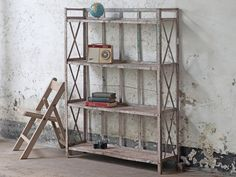 View our Vintage Industrial Shelving Rack from our collection of vintage furniture. Organise your home this January, in a style and classic vintage way of course. Vintage Shelving, Industrial Shelving, Industrial Style, Shelving Design, Shelving Ideas, Online Furniture, Diy Furniture, Shelving Racks, 2017 Design