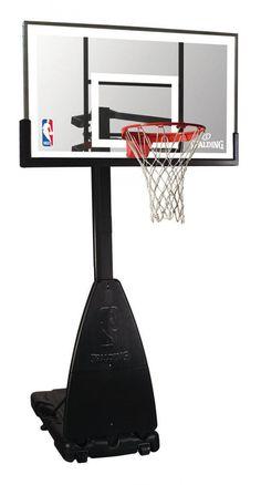 La canasta portátil de Spalding de mayor. Excelente tablero acrílico, aro basculante. Altura regulable y totalmente inoxidable. www.basketspirit.com/Spalding/Canastas-aros-y-tableros-baloncesto