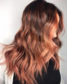 The 19 Hottest Red Balayage Hair Color Ideas Right Now Red Balayage Highlights, Red Balayage Hair, Rose Gold Balayage, Auburn Balayage, Red Blonde Hair, Ombre Hair, Maroon Hair Colors, Bright Red Hair, Red Hair Color