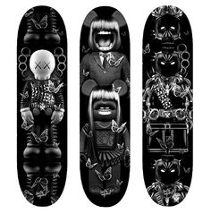 Skateboard decks by Nicolas Obery #skateboard #blackandwhite