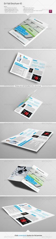 Bi-Fold Brochure 43  —  InDesign Template • Download ➝…