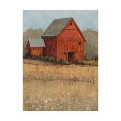1c9f9f00090b Trademark Fine Art  Red Barn View II  Canvas Art by Tim OToole