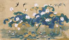사단법인 한국 민화 연구소 Korean Painting, Chinese Painting, Chinese Art, Korean Art, Asian Art, Asian Crafts, Oriental, Lotus Art, Drawing Wallpaper