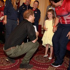 The little girl laughed with the Prince