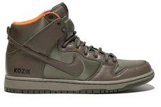 NIKE DUNK HIGH PREMIUM SB QS STEEL GREEN/OLIVE KHAKI-SAFETY ORANGE sneaker