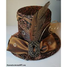 Really like the idea of drawing from Steampunk influence for accessories like hats. [✿ Timeless Steampunk Mini Victorian Top Hat with Keyhole and Gears ✿] Steampunk Hut, Design Steampunk, Costume Steampunk, Victorian Steampunk, Steampunk Clothing, Steampunk Fashion, Fashion Goth, Steampunk Necklace, Steampunk Dolls