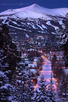 Winter's Night, Breckenridge, Colorado. We live in Colorado and Breck is a short drive . LOVE it