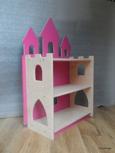 Royal princess child girl bookcase bookshelf bedroom toy storage handmade pink | eBay