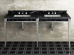 CLARIDGE Double washbasin by Devon