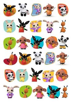 30 BING BUNNY STAND UP Rice Card Cupcake Toppers. Perfect to decorate your Cupcake cookies, biscuits, anything edible. These toppers are printed on edible rice/wafer Card with edible inks. Bing Cake, Bunny Cupcakes, Cupcake Cookies, Bing Bunny, Biscuit Decoration, Disney Cars Party, Bunny Party, Bunny Birthday, Ballerina Party