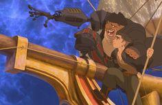 Disney Rumored To Make Live-Action 'Treasure Planet'. With Walt Disney Pictures cranking out live-action after live-action remake, the list of potential films s Disney Films, Disney Pixar, Arte Disney, Disney And Dreamworks, Disney Art, Punk Disney, Disney Characters, Fictional Characters, Treasure Planet Jim