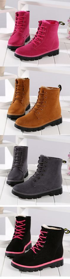 926e3af198f Suede Lace Up Fur Lining Warm Ankle Boots is hot-sale. Come to NewChic to buy  womens boots online.