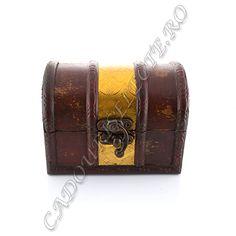 Cutie de bijuterii din lemn cu dunga aurie - CadouriSelecte.ro - Magazin feng shui si cadouri selecte.
