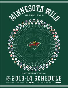 Minnesota Wild 2013-14 Schedule