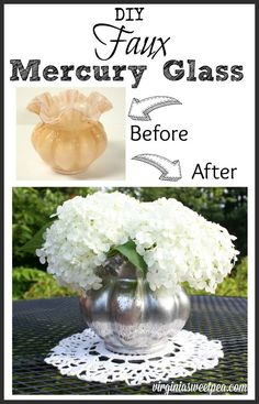 DIY Faux Mercury Vas