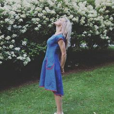 """Linen dress """"Blue dance"""". 100% linen. If you love to dance- this dress fits perfectly for it!"""