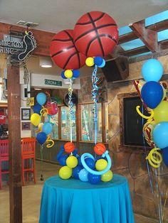 Balloon Ideas - could also use soccer balls or base balls